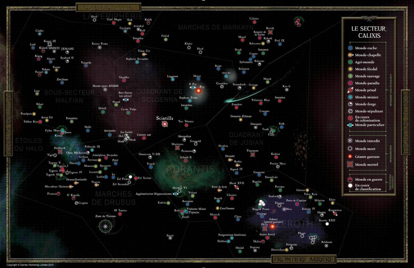 Galaxis calixis map