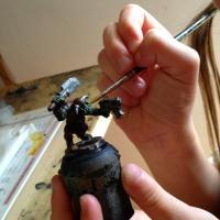 Peinture figurine enfant