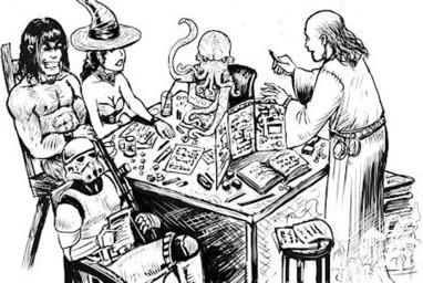 Rolistes a une table